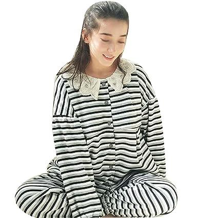 HUIFANG Conjunto De Pijamas De Amamantamiento De Rayas Prenatales Y Postnatales De Amamantamiento De Algodón De