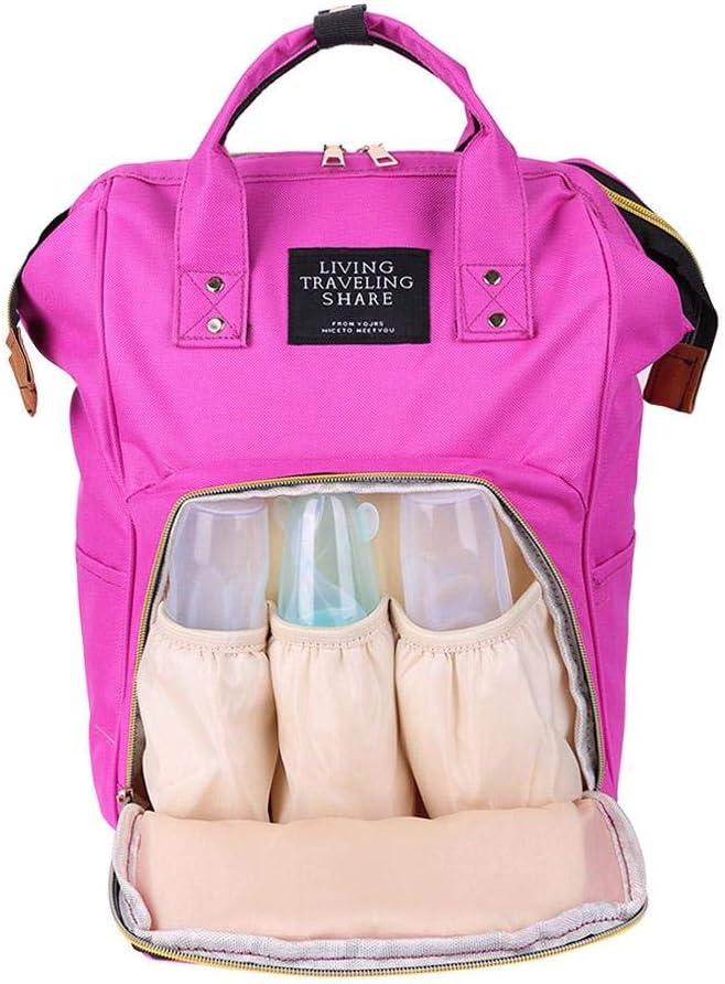 Light Pink Women Mummy Maternity Travel Backpacks Baby Nursing Handbags