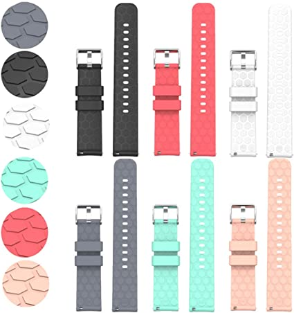 ECSEM Compatible with Fossil Gen 4 Q Explorist HR Bands Replacement Accessory Sport Colourful Silicone Bracelet 6Pack 22MM Strap Band for Fossil Gen ...