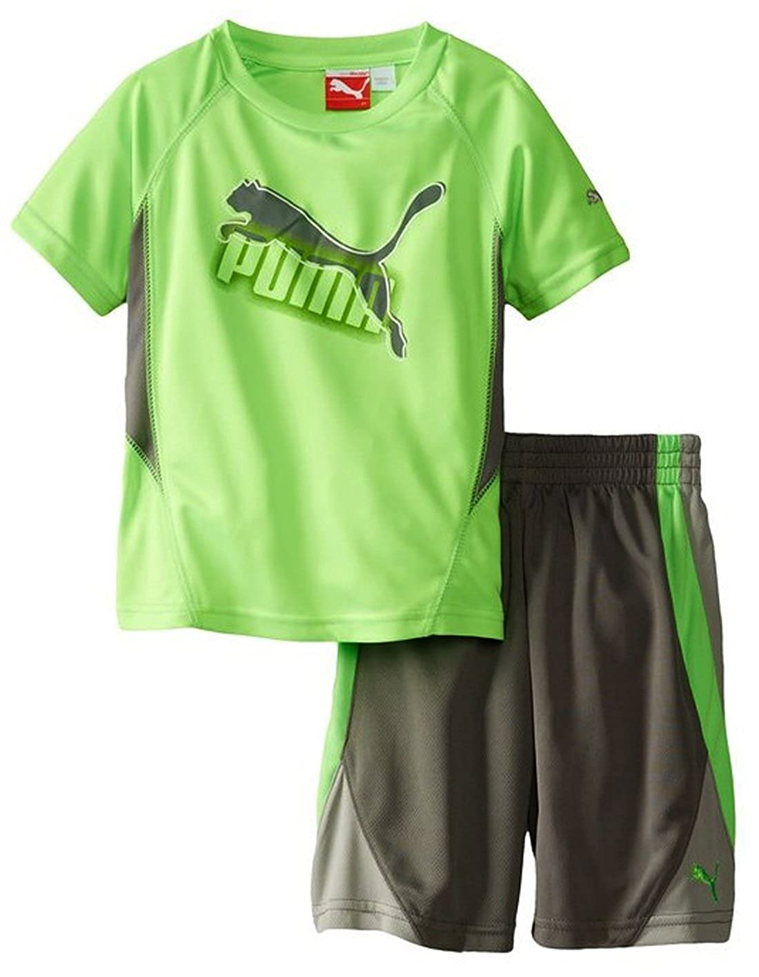 Puma Infant Boys Soccer Cat Perfect Jersey and Shorts Set Green Gecko)
