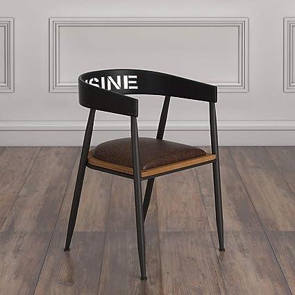Amazon.com: LRZS-Furniture Vintage Wrought Iron Cafe ...