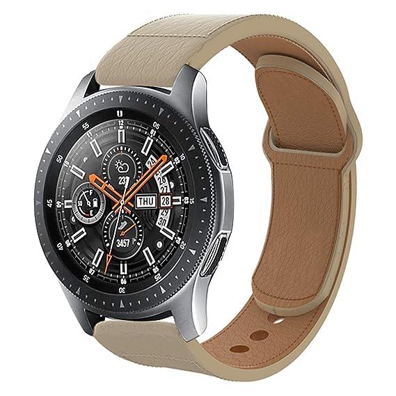 Amazon.com: Haojavo Leather Watch Band for Galaxy Watch 42mm ...
