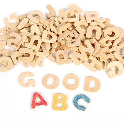 rosenice wooden letters small wooden alphabet letters diy wooden alphabet for nursery