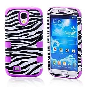Samsung Galaxy S4 Case, LERBO Zebra Design Hybrid Case Cover for Samsung Galaxy S4 i9500(Purple)