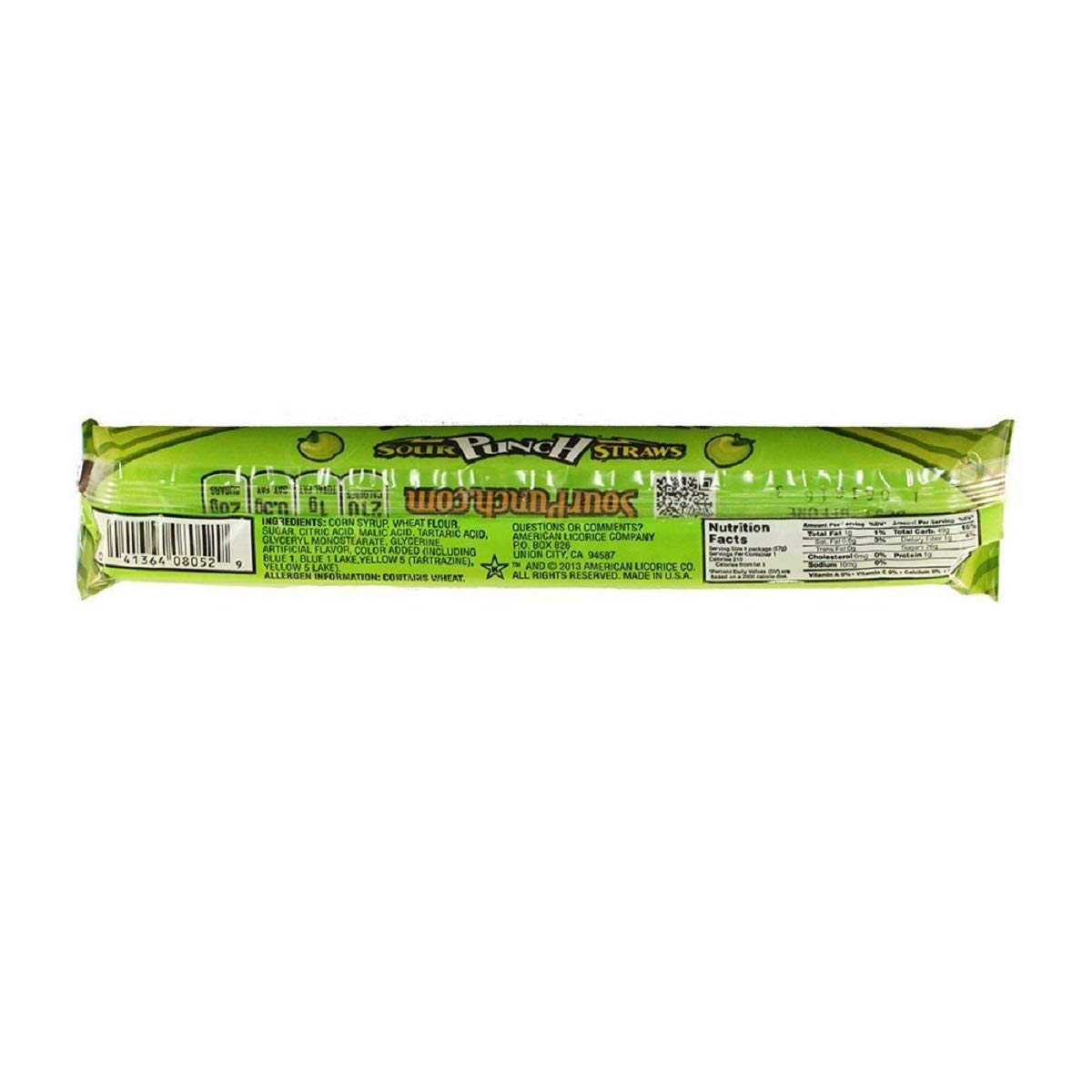 Sour Punch Straws, Sweet & Sour Apple Fruit Flavor, Soft Chewy Candy, 2oz Tray (24 Pack) by Sour Punch (Image #3)