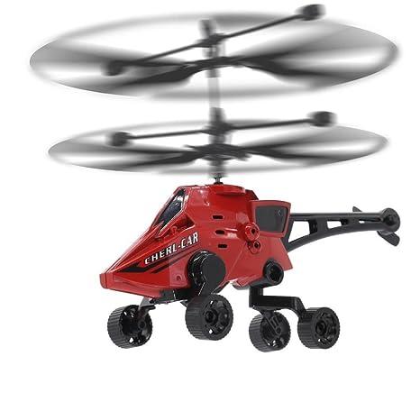 RC Drone Coches voladores Juguete Cielo y Tierra Anfibio 3.5 CH ...