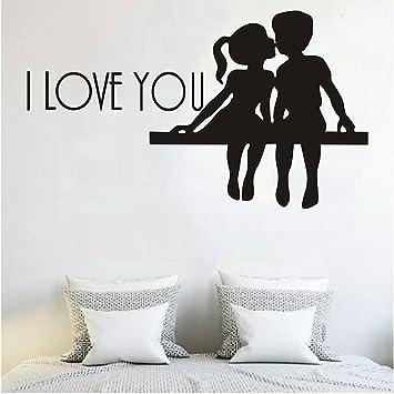 Wandaufkleber, Outgeek Wandtattoo I LOVE YOU Zimmer Aufkleber Home Sticker  Zum Valentinstag