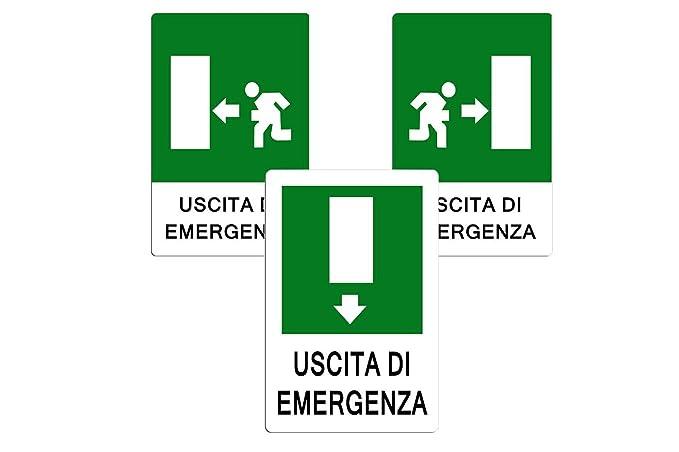 Cartel de señalización seguridad salida de emergencia ...
