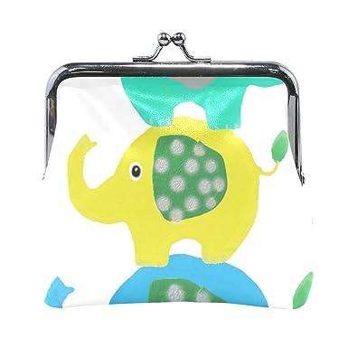 Amazon.com: Monedero de elefante con diseño de animales ...