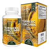 Cheap Organic Turmeric Curcumin Capsules with BioPerine ® for Joint Pain, Inflammation, & Mood Enhancement | High Potency 100% Certified Organic | Standardized to 95% Curcuminoids with Black Pepper Extract