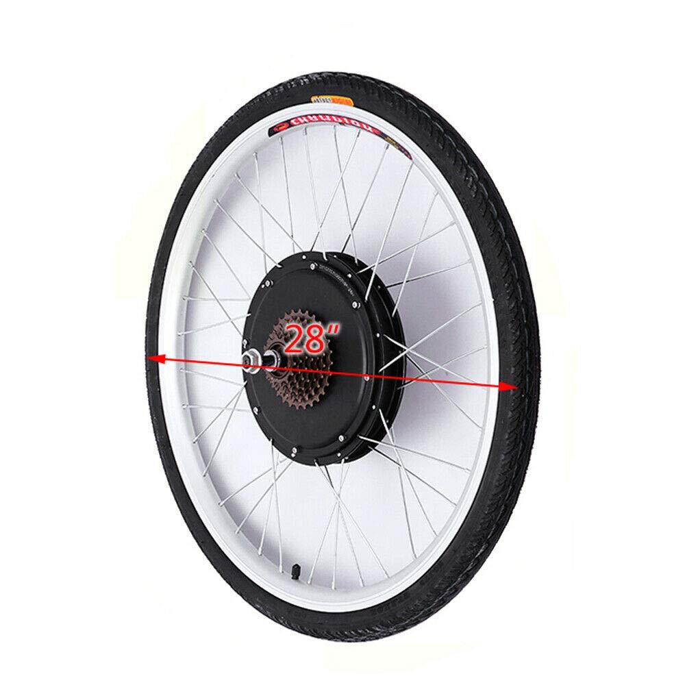 YiWon 28 Inch Hub Motor E-Bike Conversion Kit Rear Wheel Electric Bike Motor Conversion Kit with LCD Display 48V 1000W