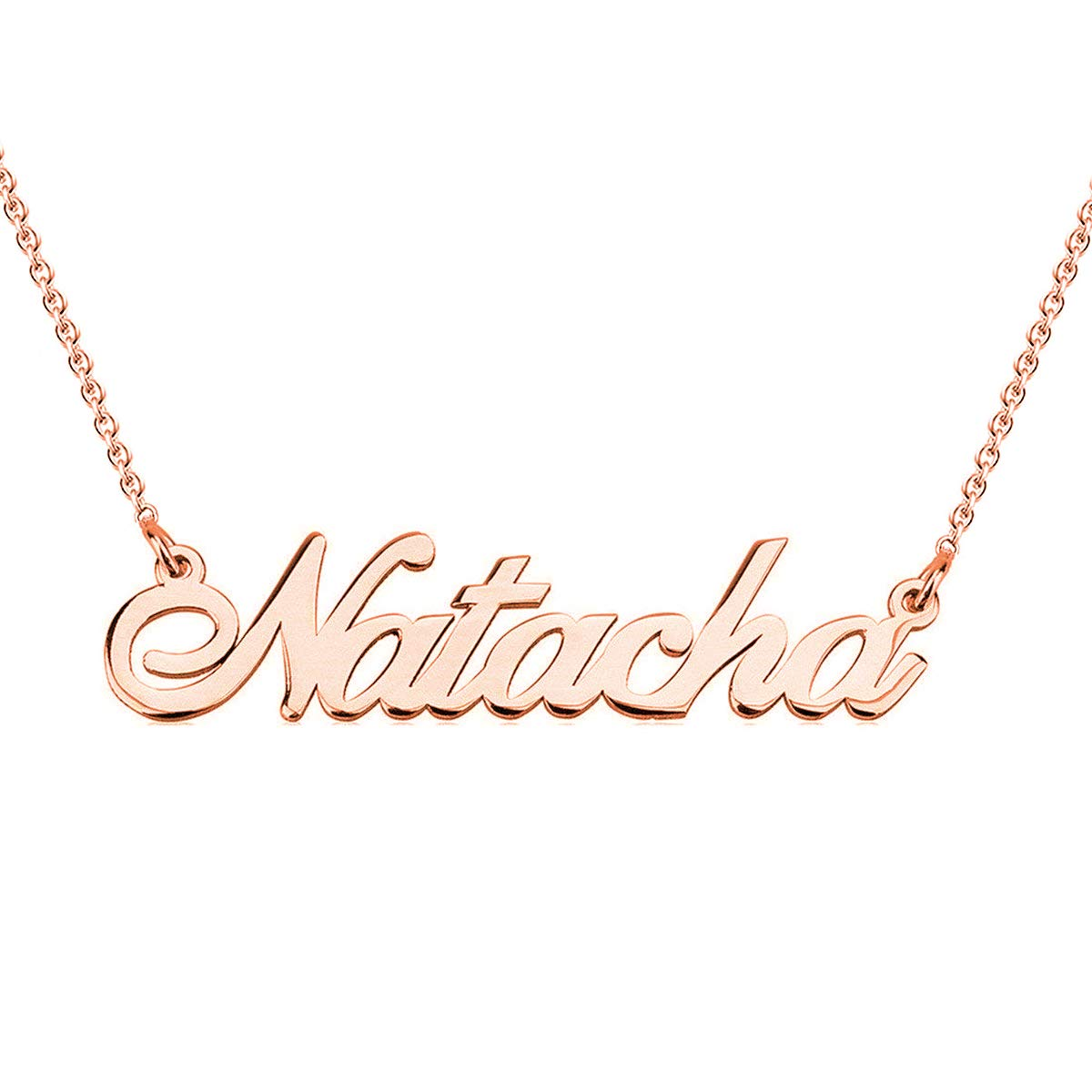00ce19609 Amazon.com: HACOOL 925 Sterling Silver Personalized Name Necklace Made with  Name 16