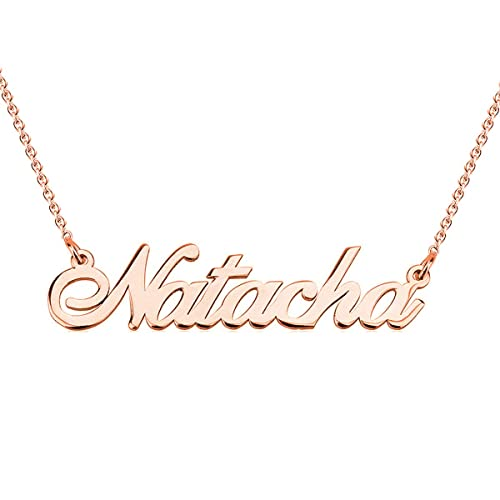 2b66ec325568f HACOOL 925 Sterling Silver Personalized Name Necklace Customized with Name  Adjustable Chain