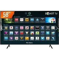 "Smart TV LED 55"" UHD 4K Samsung NU7100 2018, Visual Livre de Cabos, HDR Premium, Tizen, Wi-Fi 3 HDMI"