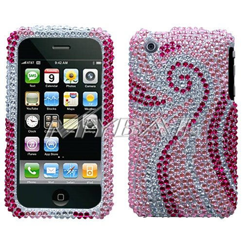 iPhone 3G / 3GS Bling Crystal Diamond Phoenix Tail Design Protector Case