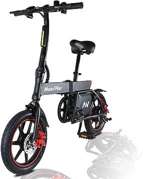 MoovWay Bicicleta Eléctrica Plegables, 350W Motor Bicicleta ...