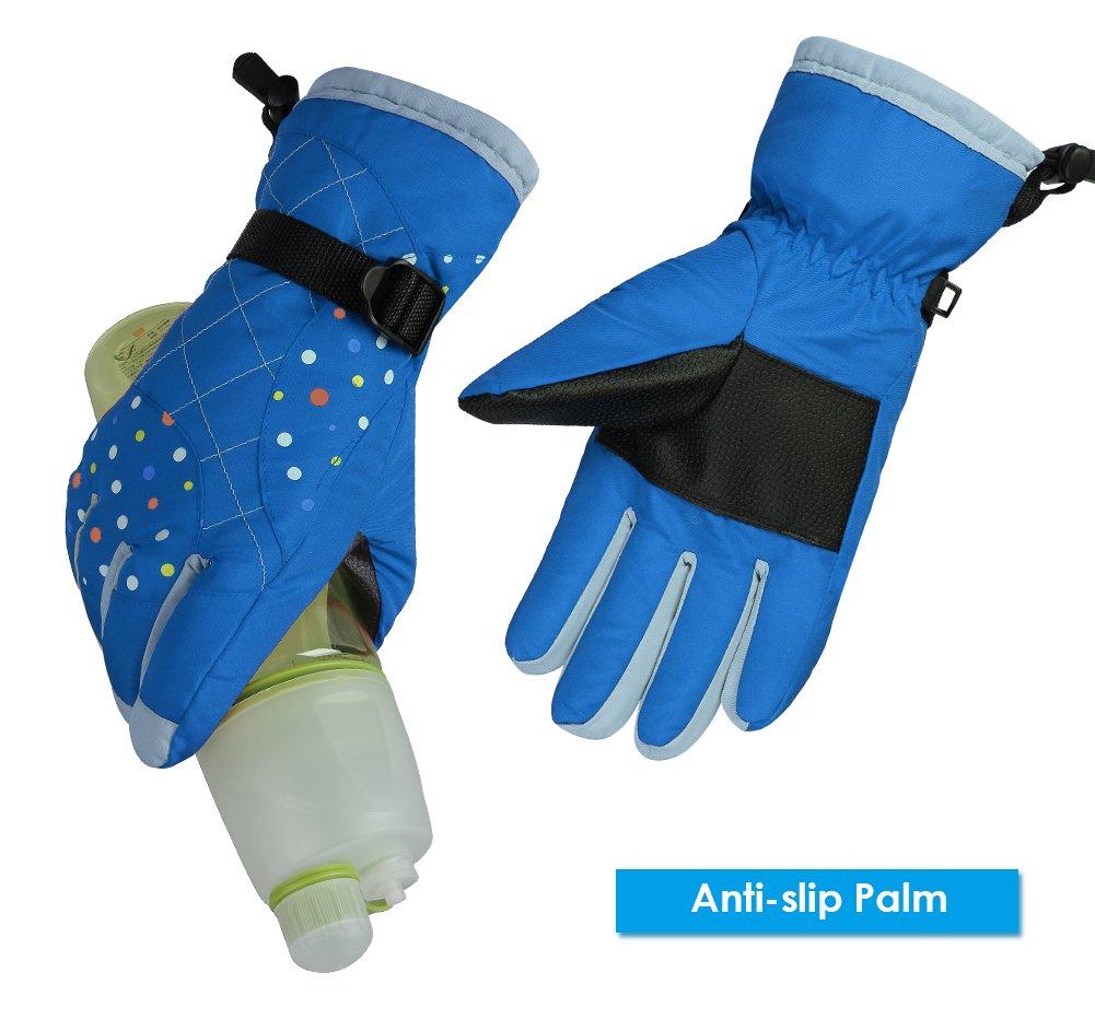 WATERFLY Winter Gloves for Women Snow Gloves Warm Waterproof Windproof Ski Gloves Snowmobile