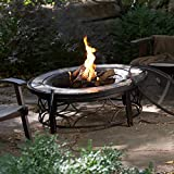 Red Ember Brighton 40 in. Round Slate Top Fire Pit Table with FREE Cover