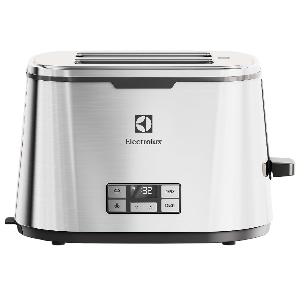 Electrolux EAT Tostador automático con display LCD acabado acero inoxidable color gris