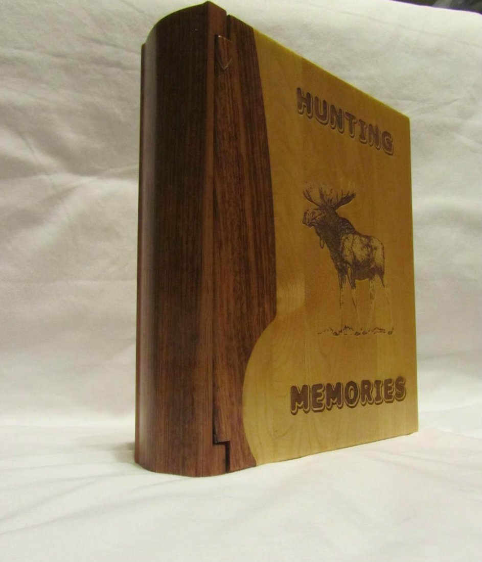 Engraved Wood Personalized Photo Album ''Hunting Memories'' - Large by Whitetail Woodcrafters (Image #3)