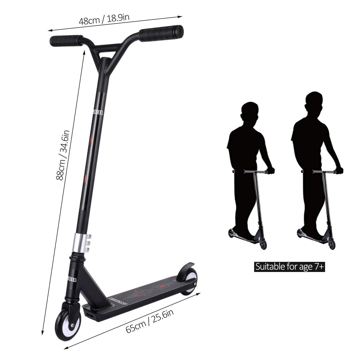 Amazon.com: ANCHEER I100 Stunt Scooter para edad 7 +, ruedas ...