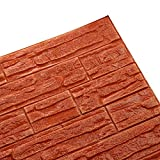 EOWEO Removable Wall Stickers,DIY 3D Brick PE Foam Wallpaper Panels Room Decal Stone Decoration Embossed (60cmx30cm,Q)