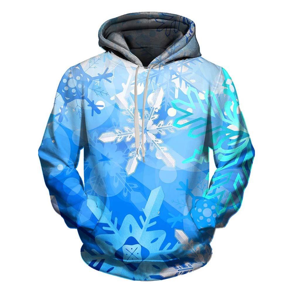 Kehome Fashion Men Christmas Pullover Sweatshirts 3D Printed Hoodie Blouse Shirt