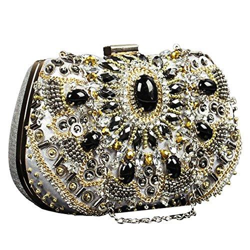 x à de fête soirée mariée bourse mariage dame cm silver de 13 main 18 sac sac luxueux embrayage diamant ZES87