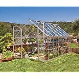 Palram 8-Feet x 12-Feet Octave Clear Greenhouse
