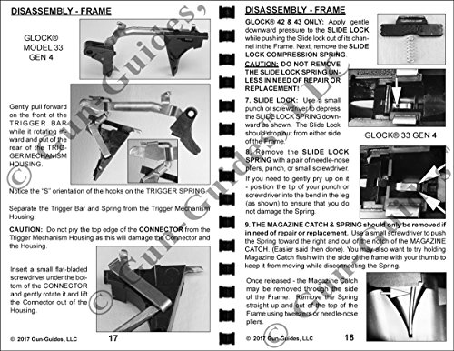 Review GLOCK Disassembly, Cleaning, Lubrication & Reassembly Gun-Guide for all models. G-17 through G43. Manual Book Guide from Gun-Guides