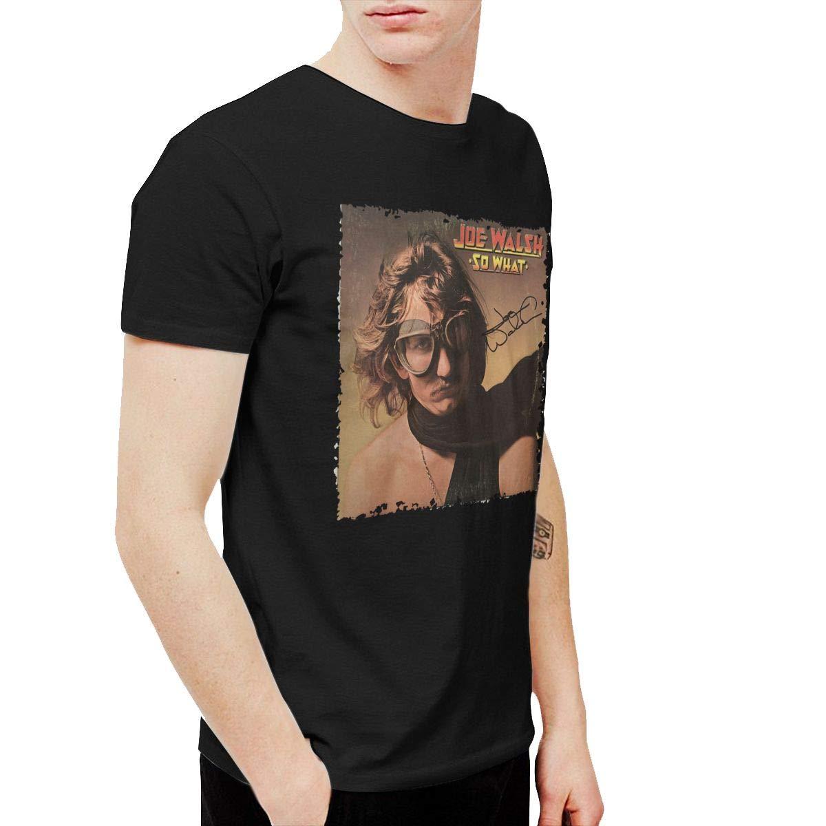 XLBSFJIWVD Joe Walsh So What Mens Short Sleeve T-Shirt Black