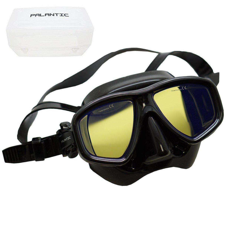 Scuba Choice用コーティング紫外線予防近視用処方箋Diveマスク、ブラック B0725LG714  Different Prescription For Each Eye