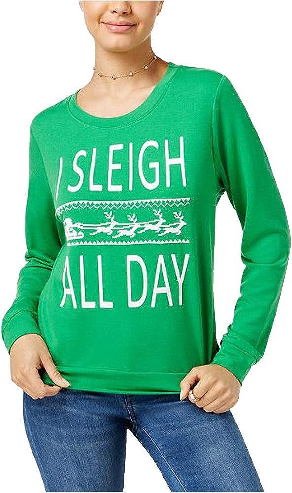 Pretty Rebellious One Juniors Sleigh All Day Graphic Sweatshirt