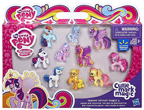 Amazon.com: My Little Pony, Friendship Is Magic, Cutie Magic Mark,  Exclusive Princess Twilight Sparkle U0026 Friends Mini Collection, 10 Pack:  Toys U0026 Games