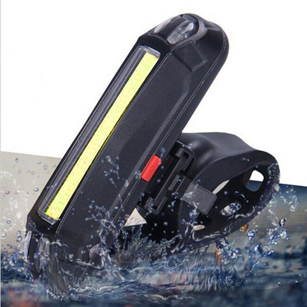 Leezo Recargable, USB, luz Delantera de Advertencia, Luces traseras, para Bicicleta, Correr, Perro, Caminar, Seguridad Luz LED para Bicicleta