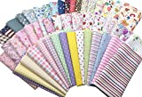"Misscrafts 25pcs 12"" x 12"" (30cm x 30cm) Top Cotton Craft Fabric Bundle Squares Patchwork DIY Sewing Scrapbooking Quilting Dot Pattern"