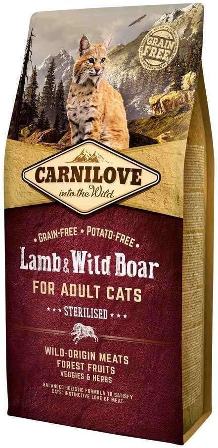 Carnilove Feline Adult Sterilised Cordero Jabali 6Kg 6000 g