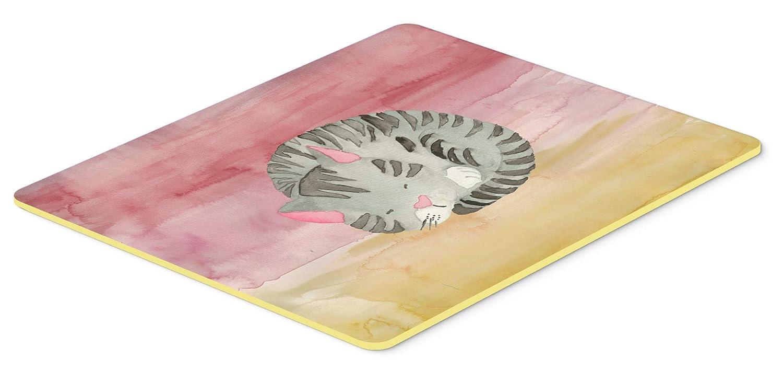 Carolines Treasures BB7353JCMT Sleeping Grey Cat Watercolor Kitchen Mat 24H x 36W Multicolor