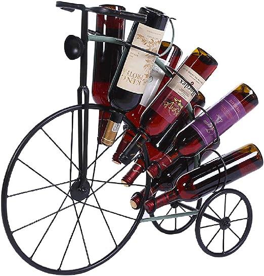 Metal Botellero Forma De Bicicleta Puede Contener 6 Botellas De ...