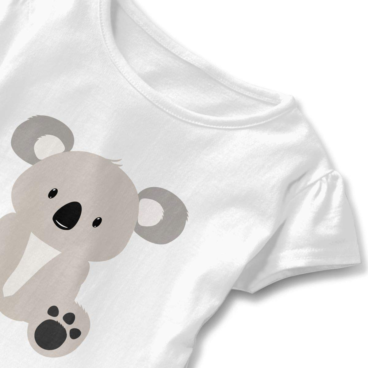 Toddler Baby Girl Koala Bear Funny Short Sleeve Cotton T Shirts Basic Tops Tee Clothes
