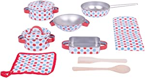 Bigjigs Toys Spotted Kitchenware Set
