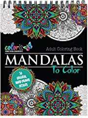 Ease your stress with each stroke of your colored pencil or pen. ColorIt's original Mandalas is among the most popular adult coloring books. Every sacred circle will help you clear your mind and sharpen your creativity. This is the best quali...