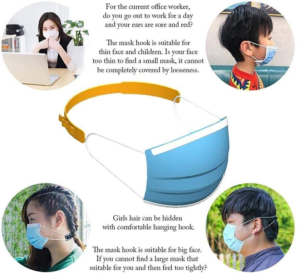 Rilassare le orecchie 10 Gancio di prolunga maschera Estensione fibbia regolabile su 3 livelli per tutti i tipi di maschera