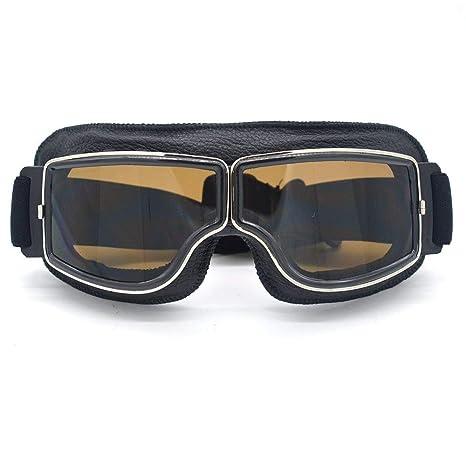 Amazon.com: Elegantes gafas de sol de piel estilo vintage ...