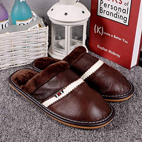 Cotone Pantofole Caldo In Casa 44 45 41 Di Lianaio 40 Adatto Antiscivolo Invernali Pelle Per pqEpd