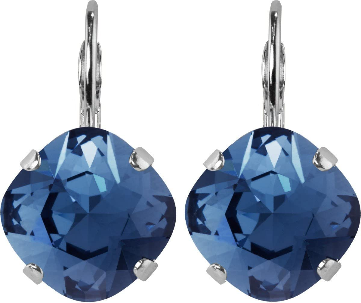 Pendiente Squad Denim Blue, con Cristales Originales de Swarovski Elements (12.00mm)