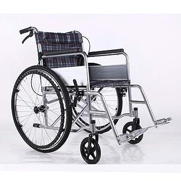 Shisky Silla de Ruedas para Ancianos, Ligera y Plegable, doméstica Silla de Ruedas Manual para discapacitados portátil: Amazon.es: Hogar