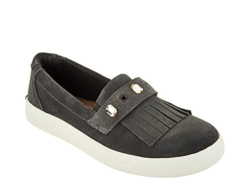 Amazon.com   Earth Origins Women s Mabel Charcoal Suede Slip-on ... 5a52ff82b41d