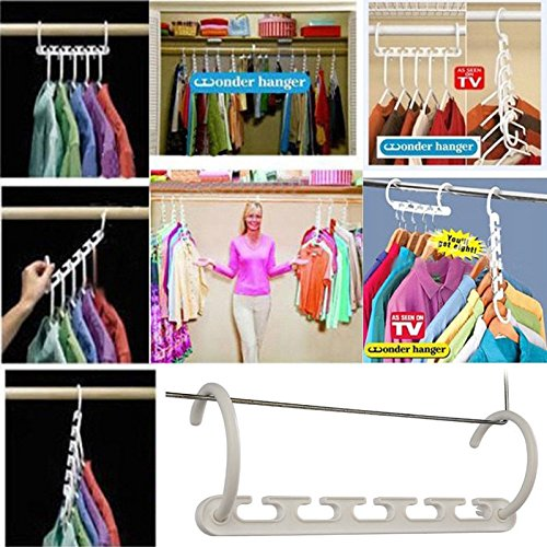 JD Million shop Space Saver Wonder Magic Clothes Hangers Closet Organizer Hooks Racks - Kilt Lifter Beer