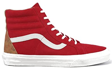 48a0bcc325 Image Unavailable. Image not available for. Colour  Vans Men s SK8-HI  Reissue CA Technical Skateboarding Shoes Red Floral ...